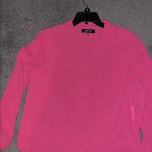 Nine West bubblegum pink business Tunic